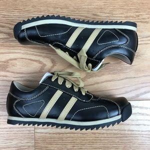 SODA Black and Tan Striped Sneaker Tennis Shoes